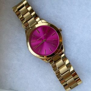 Michael Kors Gold Watch with Pink Dial